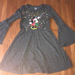 Disney Minnie Mouse christmas dress size 10/12